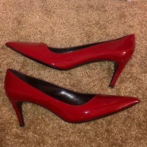 Giorgio Armani red leather pumps size 42